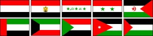 arab flags